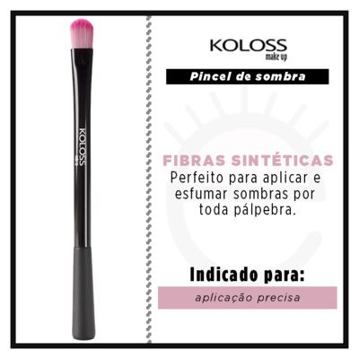 Imagem 2 do produto Pincel para Sombra  Koloss - Pink BK6 - 1 Un