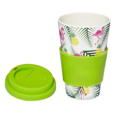 Imagem 3 do produto Copo Eco Océane - Bamboo Cup Flamingos - 1 Un