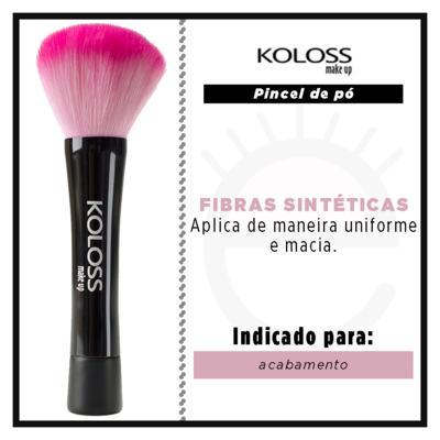 Imagem 2 do produto Pincel para Pó Koloss - Pink BK1 - 1 Un