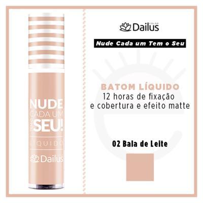 Imagem 4 do produto Batom Líquido Nude Dailus Color - 02 Bala De Leite