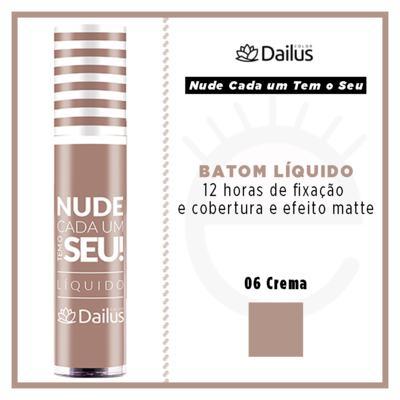 Imagem 4 do produto Batom Líquido Nude Dailus - 06 Crema