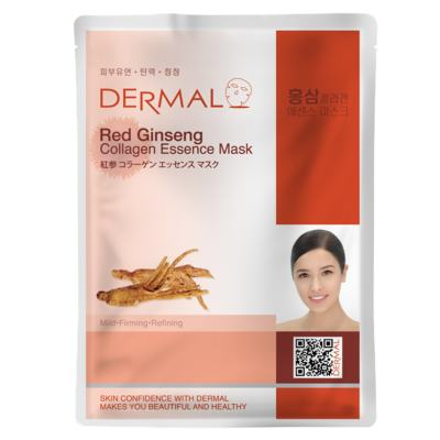 Imagem 3 do produto Máscara Facial Revigorante Dermal - Colágeno com Ginseng Vermelho - 23g