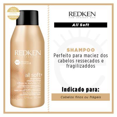 Imagem 2 do produto Redken All Soft Travel Size - Shampoo Hidratante - 50ml
