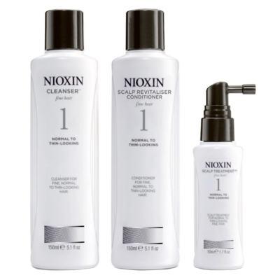 Imagem 1 do produto Nioxin System 1 Kit - Shampoo + Condicionador + Leave-in - Kit