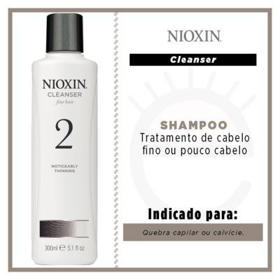 Imagem 2 do produto Nioxin System 2 Scalp Cleanser - Shampoo - 300ml
