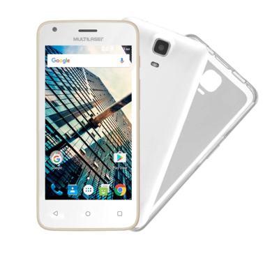 Imagem 1 do produto Smartphone Multilaser MS45S Dourado Tela 4.5 Pol. Câmera 3 MP + 5 MP 3G Quad Core 8GB 1GB Android 6 - NB703 - NB703