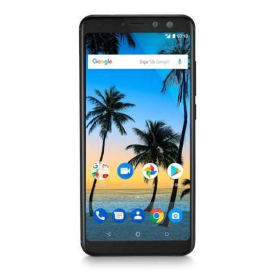 "Smartphone Multilaser MS80 4GB RAM + 64GB Tela 5,7"" HD+ Android 7.1 Qualcomm Dual Câmera 20MP+8MP Preto - P9066 - P9066"