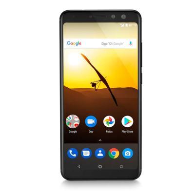 "Smartphone Multilaser MS80 3GB RAM + 32GB Tela 5,7"" HD+ 4G Android 7.1 Qualcomm Dual Câmera 20MP+8MP Preto - P9064 - P9064"