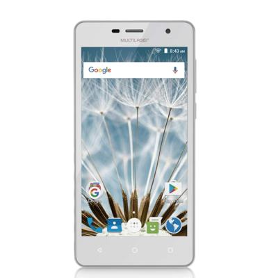 "Smartphone MS50S 3G tela 5"" dual câmera 5MP+8MP Android 6.0 Multilaser branco - NB263 - NB263"