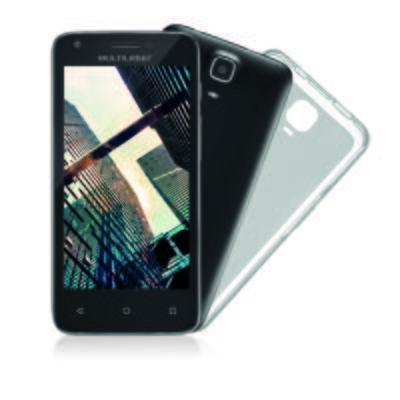 Imagem 1 do produto Smartphone Multilaser MS45r Tela 4.5 pol. Câmera 5.0MP + 3.0PM Ram 1 GB Flash 8Gb Android Preto - NB712 - NB712