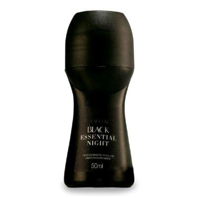Desodorante Roll-On Black Essential Night Antitranspirante - 50ml