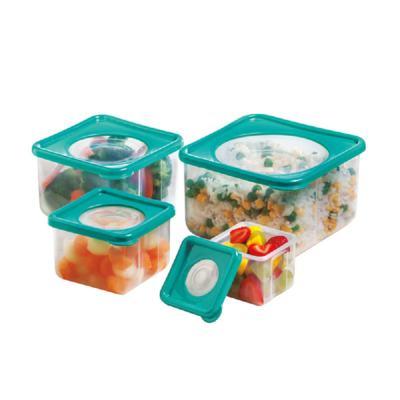 Imagem 1 do produto Kit Potes Quadrado Vision Tech Crystal