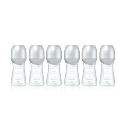 Imagem 1 do produto Kit Desodorante Roll-On Antitranspirante Pur Blanca 50ml - 6 Unidades