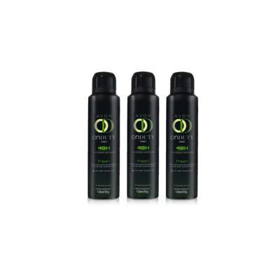 Imagem 1 do produto Kit Desodorante Aerosol On Duty Fresh 48h Masculino 150ml - 3 Unidades