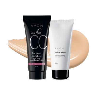 Kit CC Cream Amêndoa FPS50 e Removedor de maquiagem dos olhos
