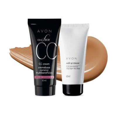 Kit CC Cream FPS50 e Removedor de maquiagem dos olhos - Mel FPS50 e Removedor