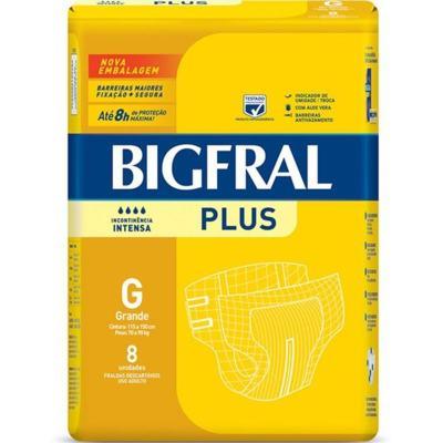 Kit Fralda Geriátrica Bigfral Plus G 64 unidades