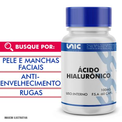 Ácido hialurônico 100mg - 90 Cápsulas