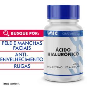 Ácido hialurônico 40mg - 90 Cápsulas