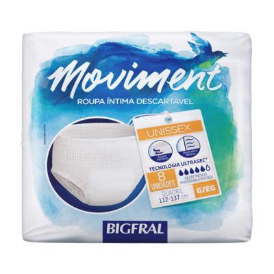 Imagem 1 do produto Kit Roupa Íntima Descartável Bigfral Moviment G/EG 64 unidades