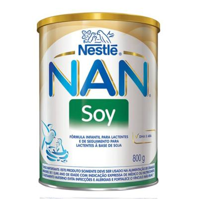Imagem 2 do produto Kit Fórmula Infantil Nestlé Nan Soy 800g 12 unidades -