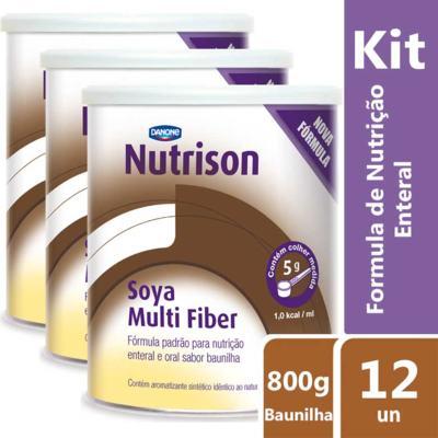 Imagem 2 do produto Kit Nutrison Soya Multi Fiber Baunilha 12 unidades de 800g