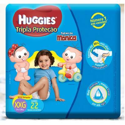Imagem 1 do produto Fralda Turma da Monica Huggies XXG 22 unidades Copy