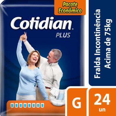 Imagem 2 do produto Fralda Geriátrica Cotidian Plus G 24 Unidades
