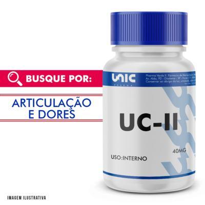 UC II (COLÁGENO TIPO 2) 40MG COM SELO DE AUTENTICIDADE - 90 Cápsulas