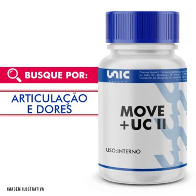 MOVE 100MG + UC II 40MG - 60 Cápsulas