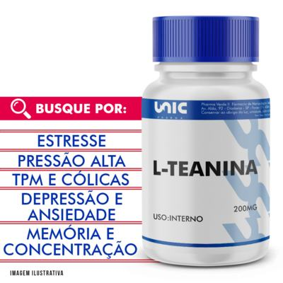 L-teanina 200mg - 120 Cápsulas