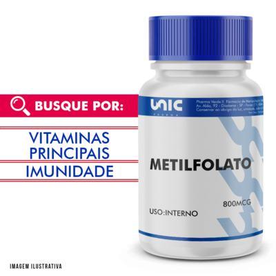 Imagem 1 do produto METILFOLATO 800MCG - 120 Cápsulas