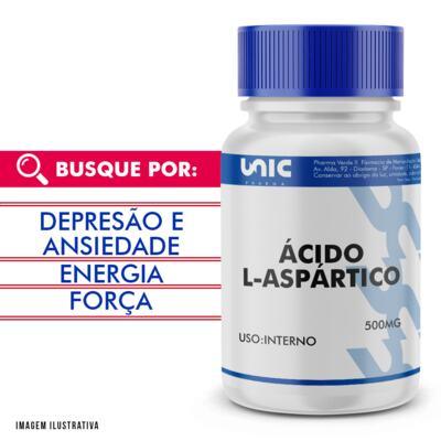 Imagem 1 do produto Ácido L-aspártico 500mg - 120 Cápsulas