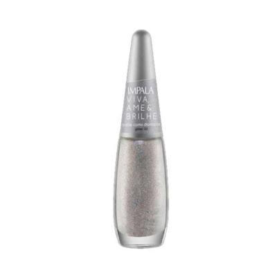 Imagem 1 do produto Esmalte Impala Viva Ame & Brilhe Glitter 3D Cor Brilhe Como Diamante