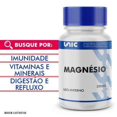 Magnésio 200mg - 120 Cápsulas