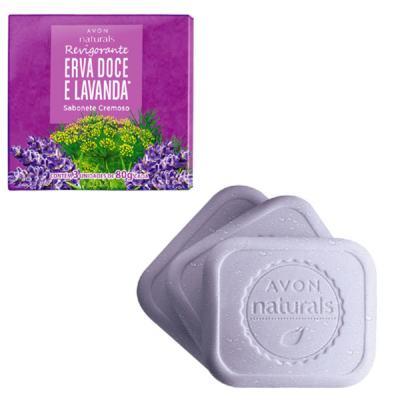 Sabonete Cremoso Naturals Erva Doce e Lavanda 3x 80 g