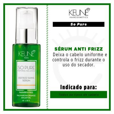 Imagem 3 do produto Keune So Pure Defrizz Shine - Sérum Anti Frizz - 50ml
