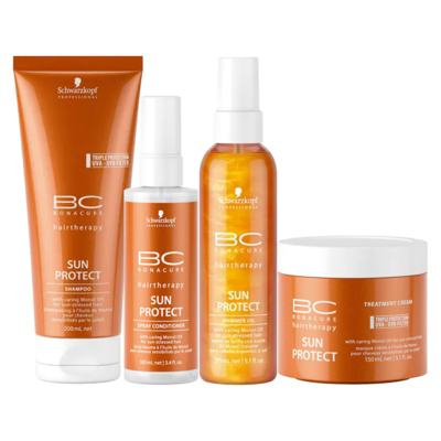 Schwarzkopf Professional BC Bonacure Sun Protect  Kit - Shampoo + Óleo + Máscara + Spray - Kit