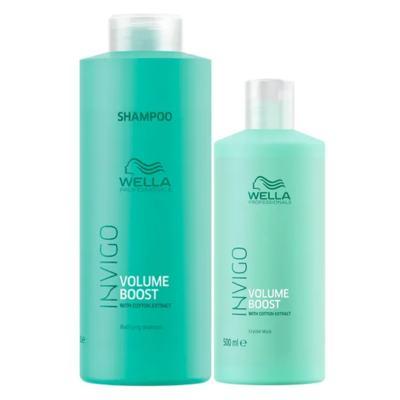 Wella Professionals Volume Booster Kit - Shampoo + Máscara Capilar - Kit