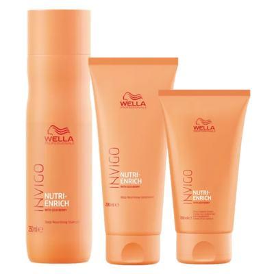 Wella Professionals Invigo Nutri-Enrich Kit - Shampoo + Condicionador + Creme - Kit