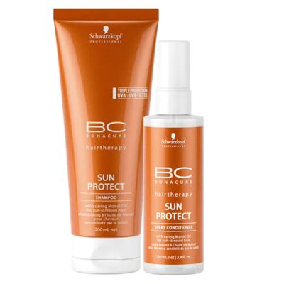 Imagem 1 do produto Schwarzkopf Professional BC Bonacure Sun Protect  Kit - Shampoo + Spray Condicionador - Kit