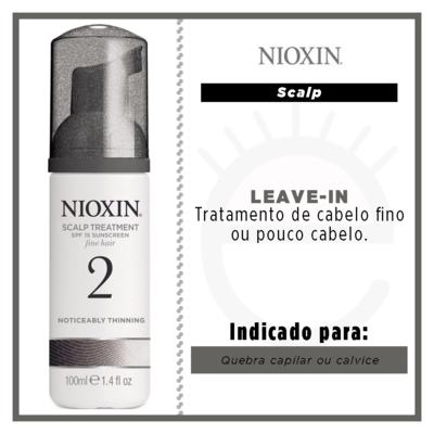Imagem 2 do produto Nioxin System 2 Scalp Treatment - Leave-In - 100ml