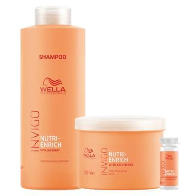 Imagem 1 do produto Wella Professionals Invigo Nutri-Enrich Kit - Shampoo + Máscara + Sérum Reparador - Kit