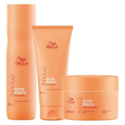Imagem 1 do produto Wella Professionals Invigo Nutri-Enrich Kit - Shampoo + Condicionador + Máscara - Kit