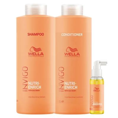 Imagem 1 do produto Wella Professionals Invigo Nutri-Enrich Kit - Shampoo + Condicionador + Sérum - Kit