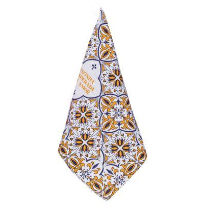 Pano de Copa Mosaico - Laranja e Azul