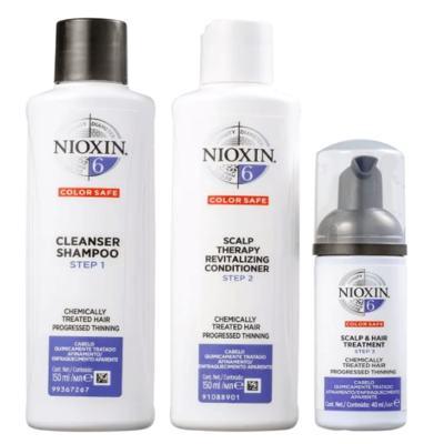 Kit Nioxin System 6 Shampoo 150ml + Condicionador 150ml + Leave-in 40ml