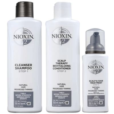 Imagem 1 do produto Kit Nioxin System 2 Shampoo 300ml + Condicionador 300ml + Leave-in 100ml