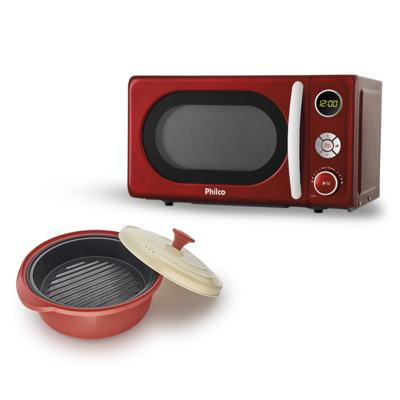 Imagem 1 do produto Micro-Ondas Retrô Philco Premium + Incredible Cook - | 127V
