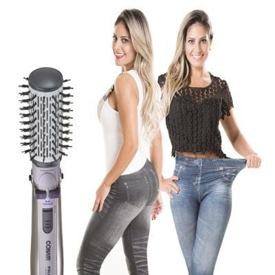 Escova Rotating Air Brush Titanium Conair + 2 Calças Modeladoras Lejeans - | 220v +  lejeans preta + azul classica